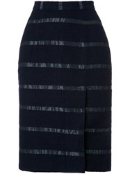 Lamarck Stripe Detail Pencil Skirt Blue