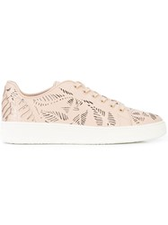 Lola Cruz Cut Out Detail Sneakers Pink And Purple