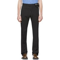 Dries Van Noten Black And White Prowse Trousers