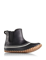 Sorel Out N About Chelsea Waterproof Leather Booties Black