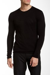 Versace Crew Neck Patterned Sweater Black