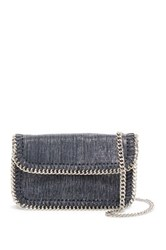 Sondra Roberts Metallic Chain Trim Crossbody Black