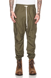 Nlst Cotton Cargo Pants In Green