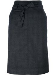 Etoile Isabel Marant Checked Mid Length Skirt Grey