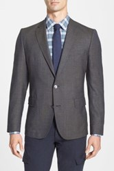Hugo Boss 'Noris' Trim Fit Houndstooth Sport Coat Brown