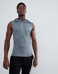 French Connection Sleeveless Hoodie Navy