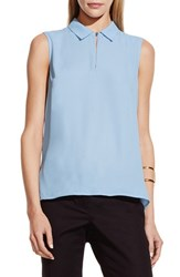 Women's Vince Camuto Collared Keyhole Neck Sleeveless Blouse