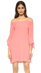 Wayf Off Shoulder Dress Salmon