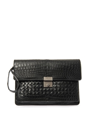 Bottega Veneta Crocodile Mini Document Holder