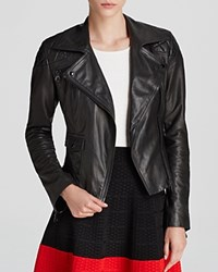 Karen Millen Iconic Leather Jacket 100 Exclusive Black