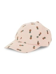 Collection 18 Pineapple Print Baseball Hat Pink