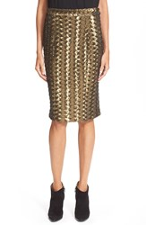 Hunter Bell 'Brody' Sequin Pencil Skirt Bronze Sequins
