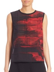 Public School Dalya Abstract Print Blouse Red