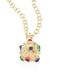 Temple St. Clair Cosmos Diamond Semi Precious Multi Stone And 18K Yellow Gold Pendant Gold Multi