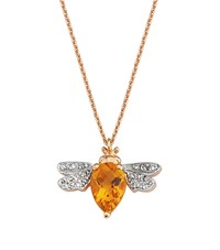Bee Goddess Citrine And Diamond Queen Necklace Yellow