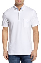 Tailorbyrd Men's Two Tone Pique Polo Pure White