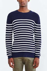 Vanishing Elephant Waffle Sweater Navy