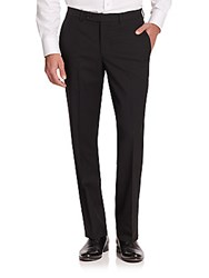 Jack Victor Modern Fit Wool Trousers Black