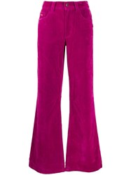 Marc Jacobs Velveteen Flared Jeans Pink