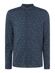 Label Lab Men's Dana Paisely Printed Shirt Dark Blue