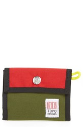Topo Designs Men's Snap Wallet Red Red Olive