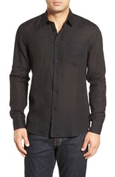 Vilebrequin Men's Linen Sport Shirt Black