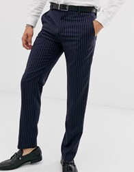 Tommy Hilfiger Pinstripe Suit Trousers Navy