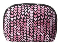Le Sport Sac Half Moon Cosmetic Painted Hearts Pink Cosmetic Case