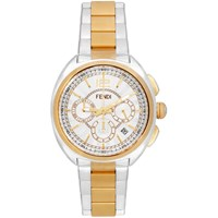 Fendi Silver And Gold Momento Chronograph Watch
