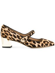 Tory Burch Square Toe Pumps Women Calf Leather Leather Spandex Elastane 10 Nude Neutrals