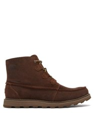Sorel Madson Caribou Lace Up Suede Boots Brown