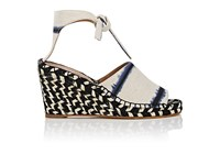 Proenza Schouler Women's Canvas Espadrille Wedge Sandals White Blue Black