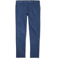Onia Abe Linen Trousers Blue