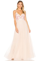 Needle And Thread Prairie Embroidery Maxi Dress Pink