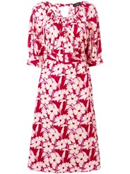 Joseph Floral Belted Dress Pink
