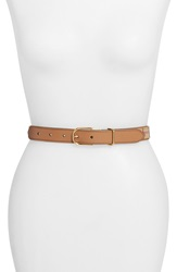 Burberry 'Ewell' Horseferry Check And Leather Belt Camel