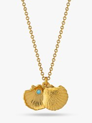 Alex Monroe Oceans Clam Shell Opal Gold Plated Pendant Necklace Gold