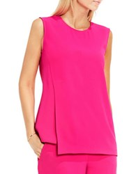Vince Camuto Double Layer Shell Blouse Electric Pink