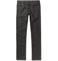 Ermenegildo Zegna Slim Fit Stretch Denim Jeans Gray