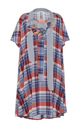 Antonio Marras Short Sleeve Plaid Top Blue