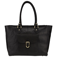 John Lewis Winchester Large Leather Tote Bag Black