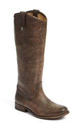 Frye Women's 'Melissa Button' Leather Riding Boot Slate Leather