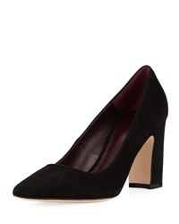 Etienne Aigner Julie Suede Pointed Toe Pump Black