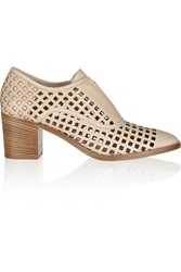 Reed Krakoff Perforated Leather Oxford Style Pumps