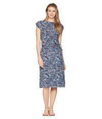 Royal Robbins Noe Dress Deep Blue Print