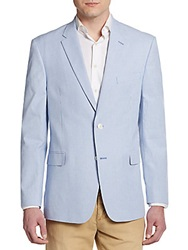 Tommy Hilfiger Regular Fit Pinstripe Cotton Sportcoat Blue White
