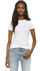 J Brand Oakwood Rib Neck Tee White