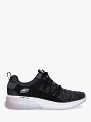 Skechers Sketch Air Lace Up Trainers Black Pink