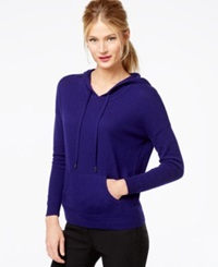 Charter Club Petite Marled Cashmere Hoodie