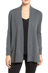 Nordstrom Women's Collection Open Front Cashmere Cardigan Grey Gate